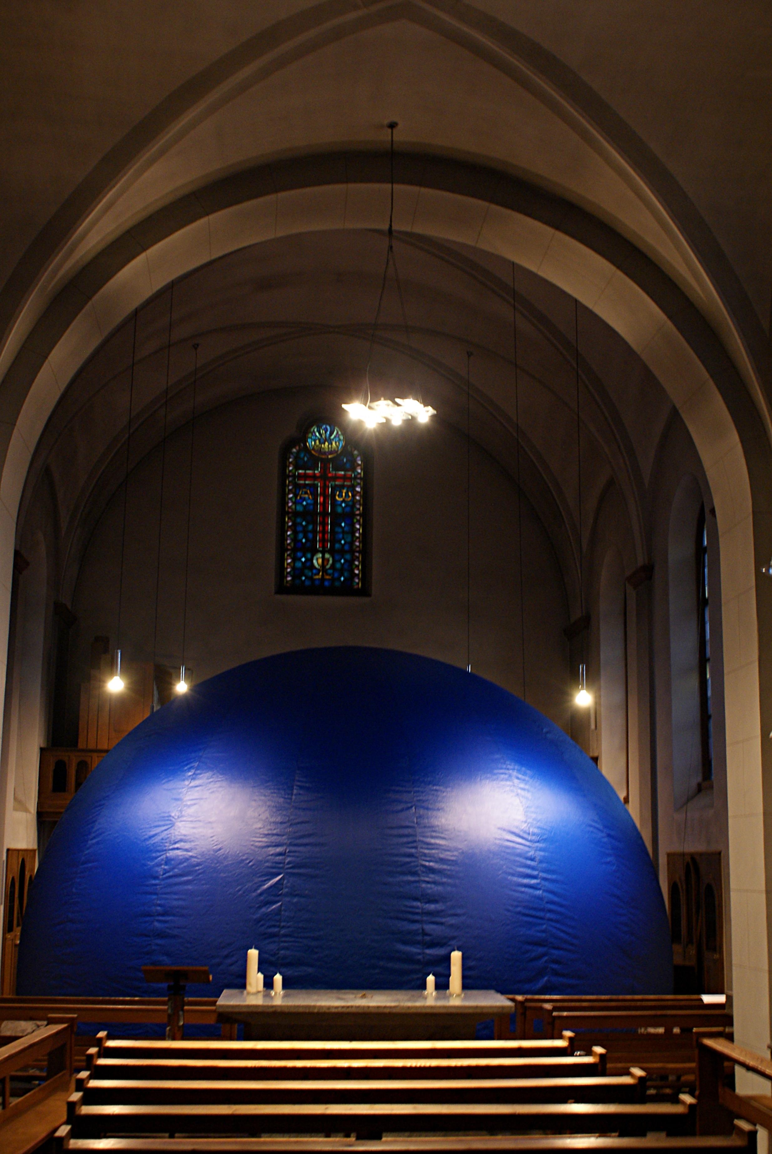 Fulldome Cinema im ehem. Kapuziner Kloster in Dieburg. Bild: Natascha Rehberg